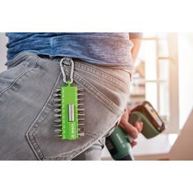 Bosch Screwdriver Bit Set with Snap Hook 21 Pieces, green